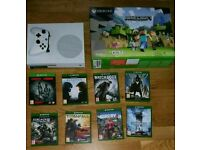 Xbox one s and 9 games