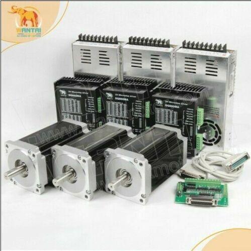 Nema34 stepper motor cnc kit, 1700oz=12N.M  6A 14MMshaft&DQ860MA+LASER engrav