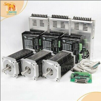 Us 3 Axis Nema34 Stepper Motor Cnc Kit1600oz11.3n.m 3.5a Dual Shaftdq860ma