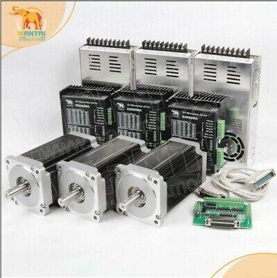 Us 3 Axis Nema34 Stepper Motor Cnc Kit1600oz11.3n.m 3.5a Dual Shaftdq860ma