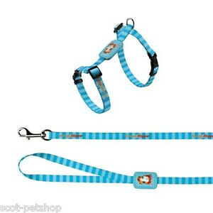 NEW Trixie Honey & Hopper Harness and Lead for Guinea Pigs Blue