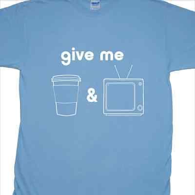 'Kaffee und TV' T-Shirt Inspiriert von Blur (Britpop, Indie, 13)