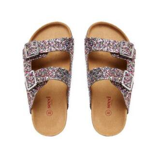 Girls Seed Glitter Sandals Size 28 - Brand New