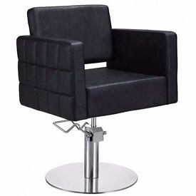 Solid Brand New and Boxed Black Styling Salon Chairs for sale