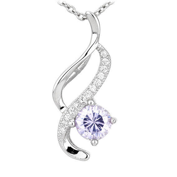 $6.88 - Women New 925 Sterling Silver Crystal Heart Pendant Necklace Chain Jewelry