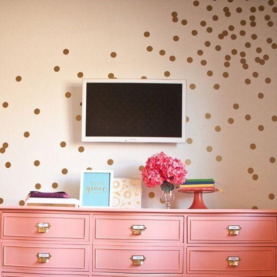 Home Decoration - Set of 60 Polka Dot Wall Stickers Decal Childs Kids Vinyl Art Decor spots