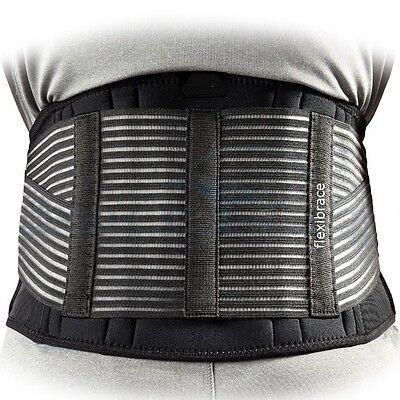 Back Support Brace Belt Lumbar Lower Waist Double Adjust by Flexibrace