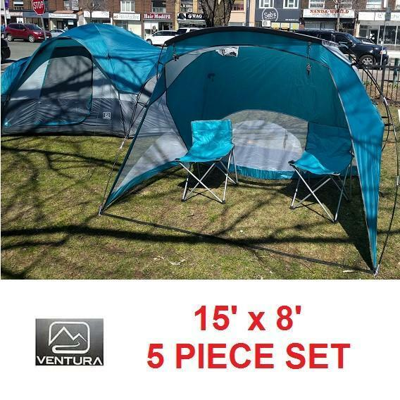 USED VENTURA FAMILY CAMP COMBO - 116183012 - 5 PIECE SET TENT SUNSHADE 2 CHAIRS AND BAG PORTABLE TENTS SHELTERS CAM... | Other | Markham / York Region | ... & USED VENTURA FAMILY CAMP COMBO - 116183012 - 5 PIECE SET TENT ...