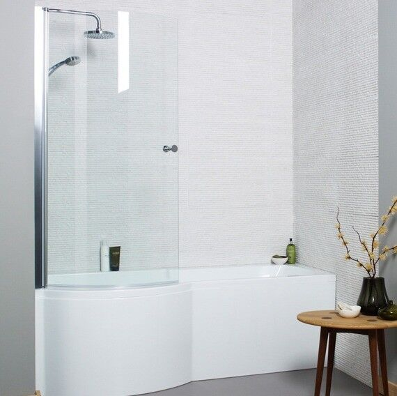 New Adapt P-Shaped Shower Bath and Adapt Shower Bath Front Panel ...