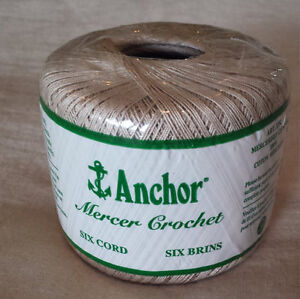 Anchor Mercer Crochet 20 100% Mercerised Cotton Ecru 6 Cord