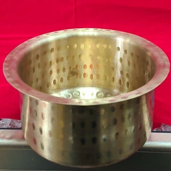 Brass  handmade milk boiling pot indian house warming 1.8 liters item USA seller