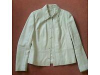 Women's Beige Leather Jacket
