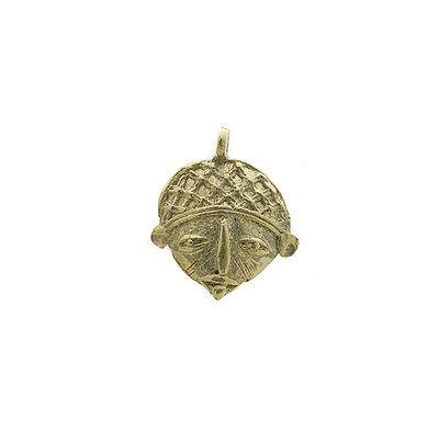 Pendant or Door Keys Mask African Ashanti Tribale Ethnic Brass 6052