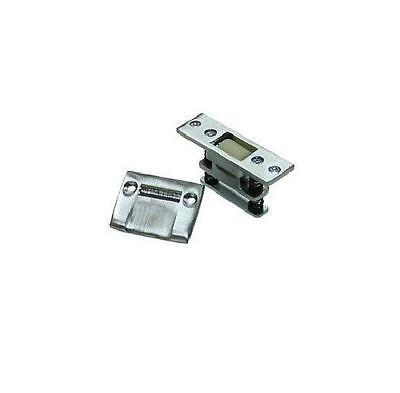 Chrome Brass Roller Latch - Deltana RCA430 U26D Satin Chrome Heavy Duty Roller Latch Catch and strike Brass