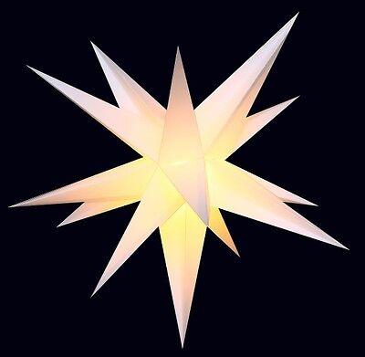Adventsstern weiß Außenstern 3D außen Stern Weihnachtsstern wetterfest Outdoor