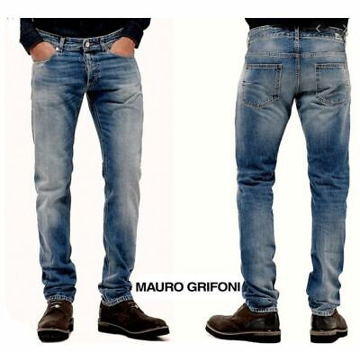 Mauro Grifoni 34 Rocco Mens Jeans Straight Slim Stretch Denim Pants