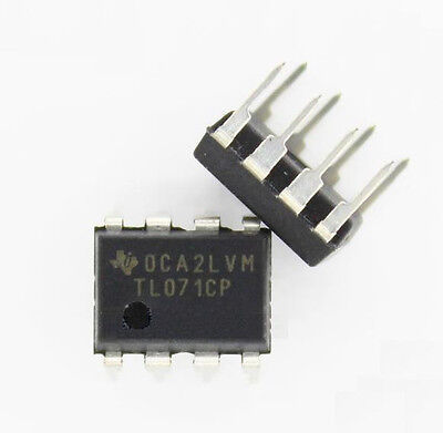 10PCS TL071 TL071CP DIP-8 TI LOW NOISE JFET INPUT OPERATIONAL AMPLIFIERS NEW IC  on Rummage