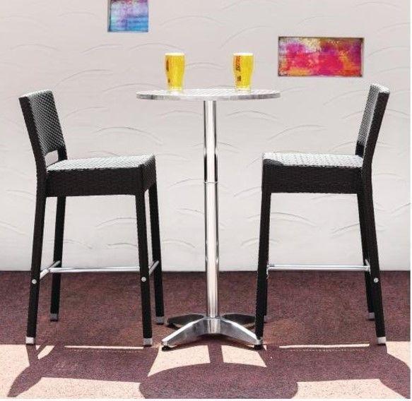 Bar Pour Terrasse tabouret de bar en rotin | pour terrasse! | lot de 8 pièces