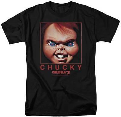 Kinder Play 3 Unheimlich Film Chucky Bizarre Gesicht Bild Erwachsene T-Shirt
