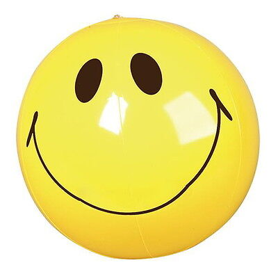 """LOT OF 3 SMILE 16"""" BEACH BALLS BEACHBALL BALL POOL PARTY SMILEY FAST FREE SHIP"""