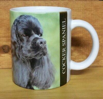 1992 BLACK COCKER SPANIEL Coffee Mug Dog Puppy Xpres Corp.  Cocker Spaniel Mug Dog