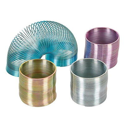1 METAL SLINKY NEW IN BOX ASSORTED COLORS BLUE PURPLE SILVER GOLD FAST SHIPPING