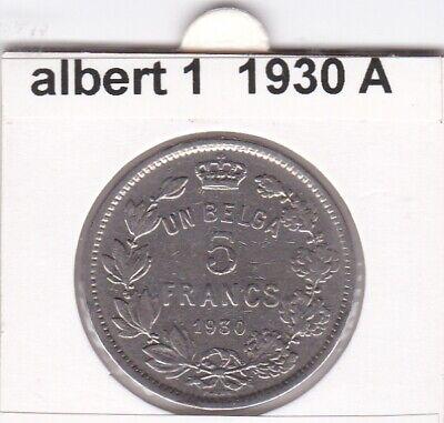 FB 1 )pieces de albert I  5 franc 1930 belgique  ( A )