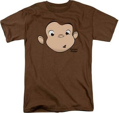Curious George Adult Shirt (Curious George PBS Cartoon Gerorge Little Monkey Face Adult T Shirt)