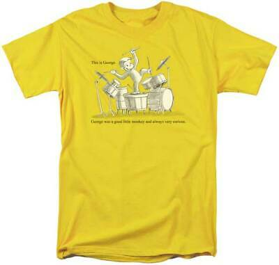 Curious George Adult Shirt (Curious George PBS Cartoon George Was A Good Monkey Adult T Shirt)