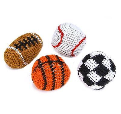 4 SPORT KICK BALLS WOVEN HACKY SACK FOOT BALLS BAGS HACKEY PARTY FOOTBALL SOCCER](Party Balls)