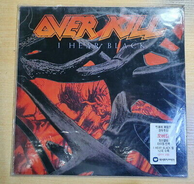 Overkill ‎– I Hear Black Rare Korea LP 1993 Sealed New