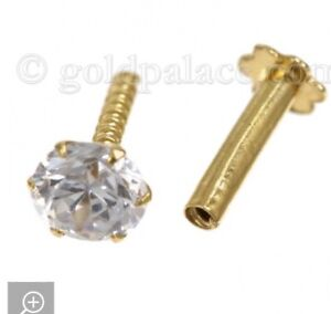 22k Solid Gold Nose/Ear Pairs On Sale