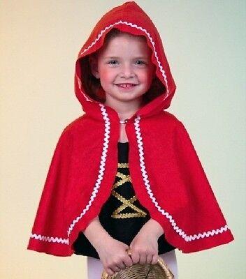 Rotkäppchen-Umhang Cape rot Mädchen Kostüm Fasching Karneval Kostüm NEU