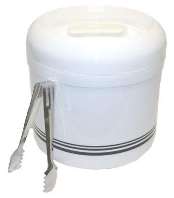 Eiswürfelbehälter 4 l Zange Eiswürfeleimer Eiseimer Eiswürfel Eiswürfelzange