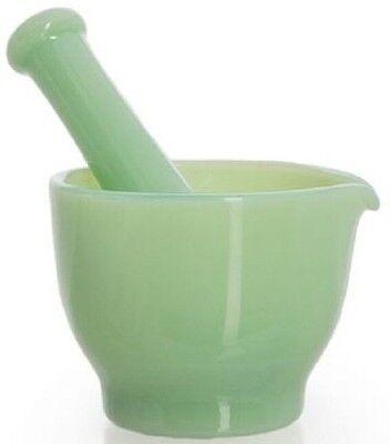 Mortar & Pestle - Jade Jadeite Jadite Green Glass - 4 oz - Mosser USA
