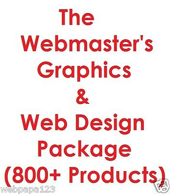 Webmasters Graphics Web Design Pro Package - Internet Business - 6gb