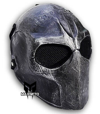 Army of Two Airsoft Paintball BB Gun Skull Full Face Mask Mesh Protective Gear