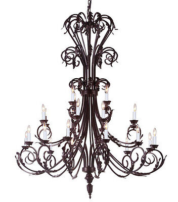 Large Foyer Chandeliers (Large Foyer/Entryway Wrought Iron Chandelier Lighting 50