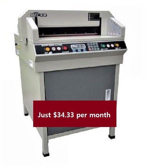 19.3 - 490R, Electric Paper Cutter, Program, Keypad, Manufac