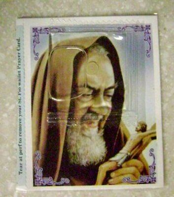 St. Padre Pio Sacramental Oil  & Wallet Prayer Card  of Saint Padre Pio
