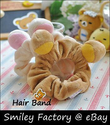 Cute San-X Rilakkuma Relax Bear Plush Stretch Hair Band Headband Hair Accessory