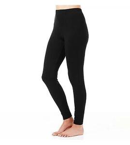 Black Full Length Leggings Cotton Spandex High Quality Footless Stretch Fashion