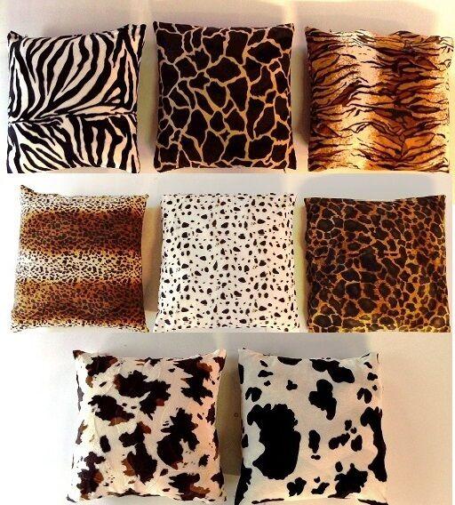 Kissenbezug Fellimitat Afrika Safari 35x35/40x40/50x50/40x60/60x60/80x80 und 100
