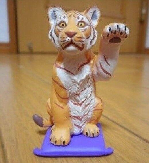 Japan Kaiyodo Taizen Tiger 2 Mini PVC Figurine Figure Yellow