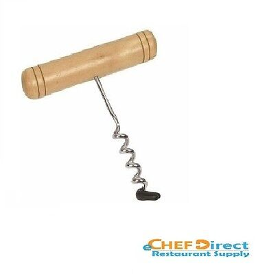 New Wooden Handle Corkscrew Wstainless Steel Coil