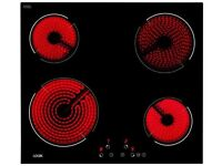 LOGIK Electric Ceramic Hob - Black - NEW EX DISPLAY