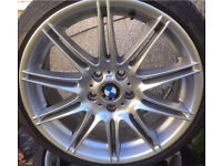 Bmw 9j rear mv4 alloy wheel with runflat tyre