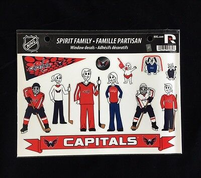 Washington Capitals Spirit Family Decals New Car Truck Window   Set Of 17