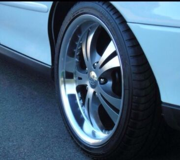 XHP 18x8 SABRES WITH NEAR NEW TYRES. SWAP FOR OTHER COMMODORE HSV RIMS Prospect Vale Meander Valley Preview