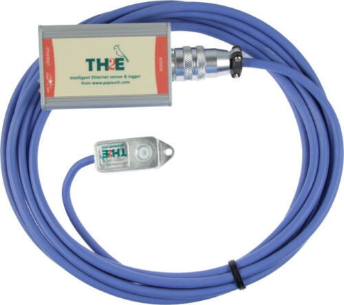 IP Ethernet thermometer, humitidy temperature meter logger dew point emaiL TH2E